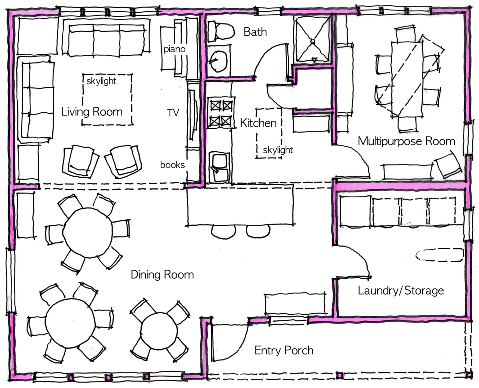 Common house plan fifth street commons for Common house plans